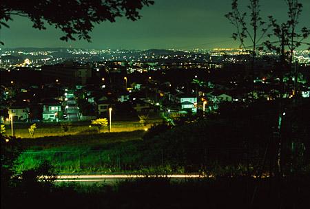 みはらし緑地の夜景