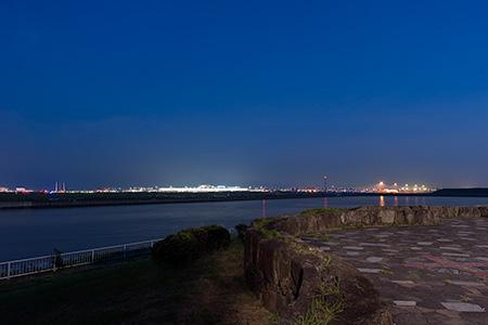 京浜島緑道公園の夜景
