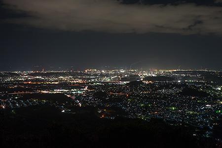 霊山 登山道の夜景