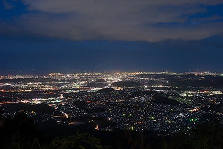霊山展望台の夜景