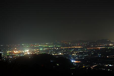 龍河洞スカイラインの夜景