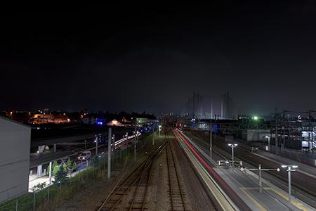 竜王駅 南北自由通路山並みビューポイントの夜景