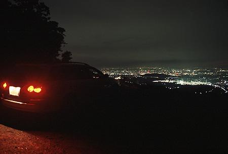 竜王山の夜景