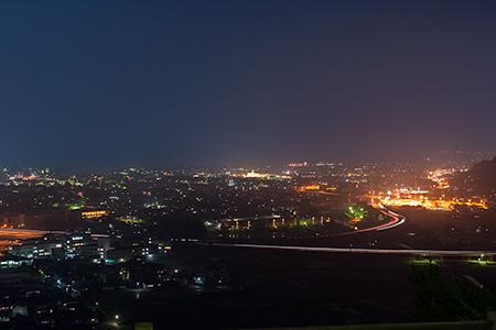 さえずりの森 高倉展望台の夜景