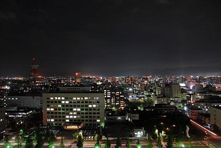 佐賀県庁 展望ホールの夜景