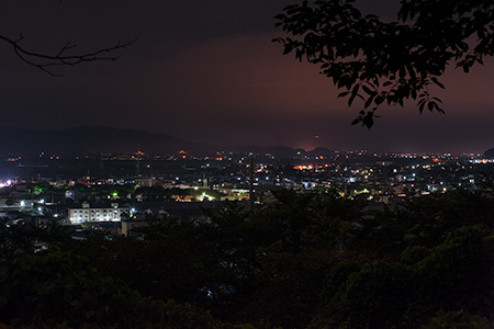寒河江公園 さくらの丘の夜景