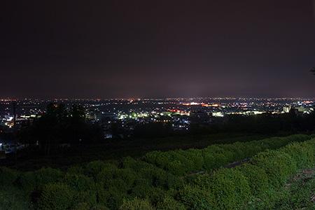 寒河江公園 展望広場の夜景