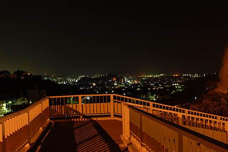 佐方SAの夜景
