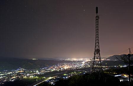 相方城跡の夜景