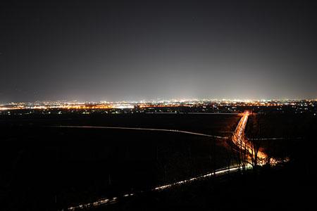 妻女山の夜景