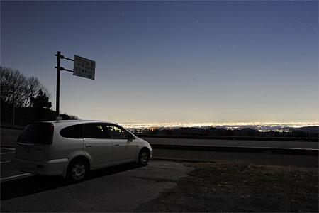 彩の国ふれあい牧場の夜景