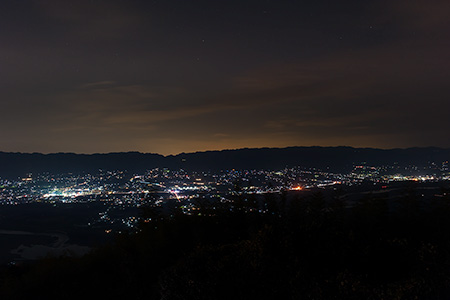 最初ヶ峰展望所の夜景