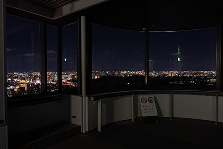 堺市役所 展望ロビーの夜景