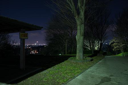 境木町公園の夜景