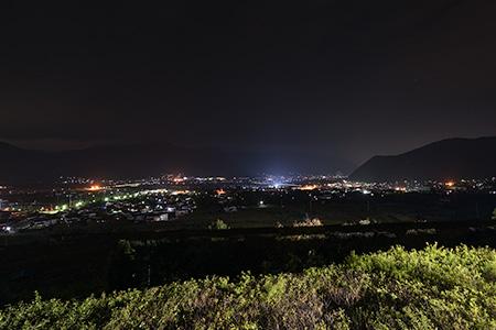 千曲川さかきPA(下り)の夜景
