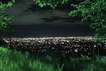 桜公園の夜景