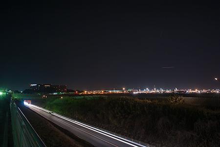 さくらの山の夜景