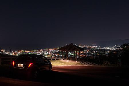 名護中央公園 さくらの園の夜景