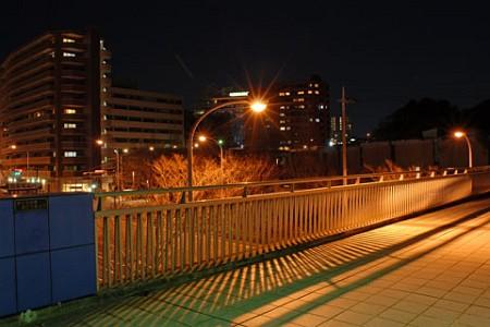 桜山歩道橋の夜景