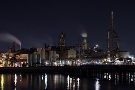 鮫川大橋の夜景