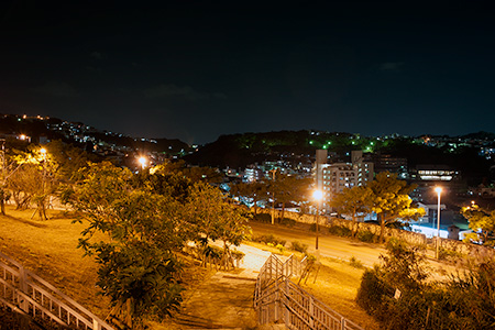 寒川緑地の夜景