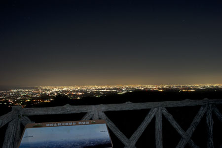 猿投山観光展望台の夜景