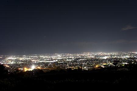 市道三本木線 展望所の夜景