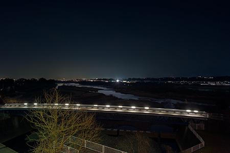 三段の滝展望広場の夜景
