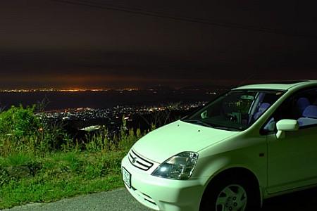 三ヶ根山スカイライン 三河湾側の夜景
