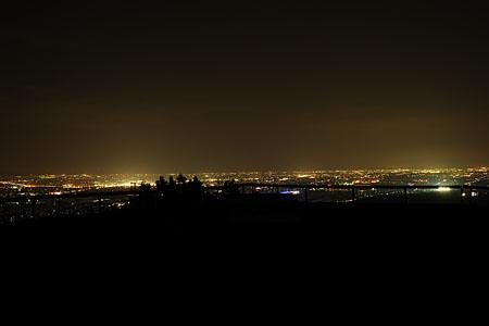 となみ夢の平散居村展望台の夜景
