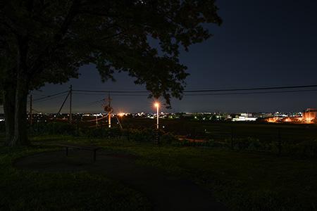 佐野サービスエリアの夜景