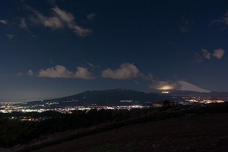 佐野見晴台の夜景