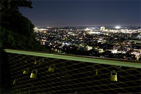山王台公園の夜景