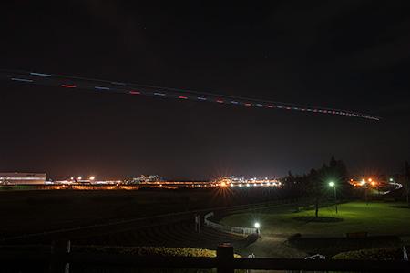 三里塚さくらの丘の夜景