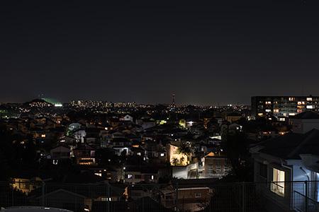 三殿台考古館前の夜景