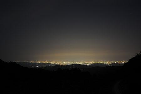 三千坊展望休憩所の夜景