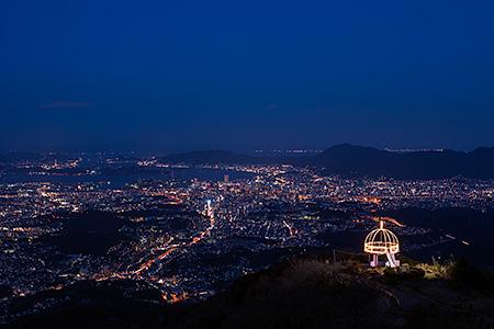 夜景100選「皿倉山」