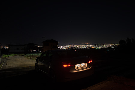 笹原配水場の夜景