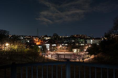 万福寺さとやま公園の夜景