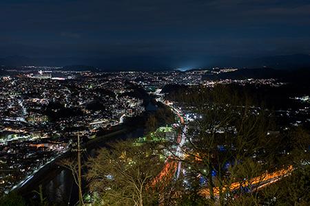 五月台 五月山ドライブウエイの夜景