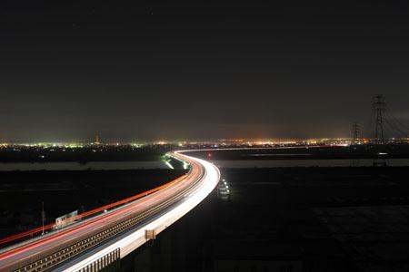佐原PAの夜景