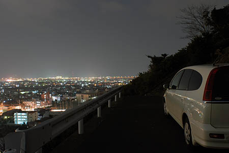 佐渡山の夜景