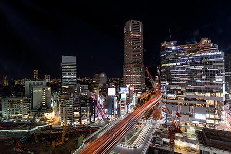 渋谷スクランブルスクエア Scene12の夜景