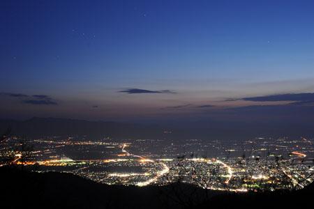 背あぶり山の夜景