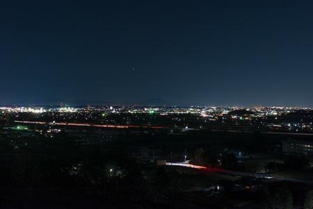 栃木市聖地公園の夜景