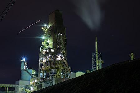 北海道石灰化工の夜景