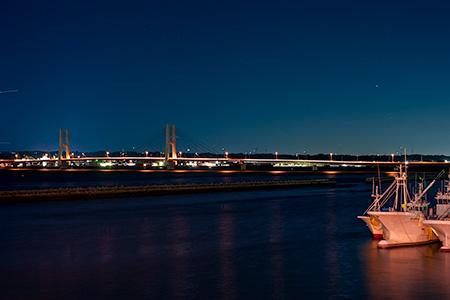 旧波崎町営渡船場跡の夜景