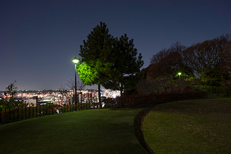 浅間台みはらし公園の夜景
