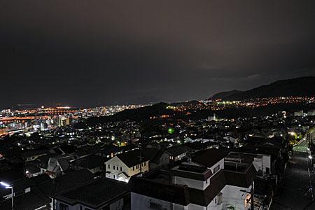 新山千手観音堂の夜景
