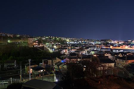 千枚原 歩道橋の夜景